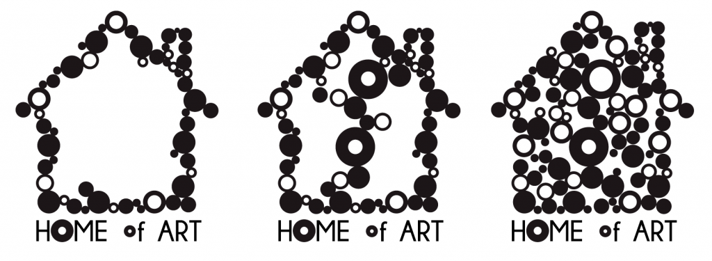 home of art logo variations